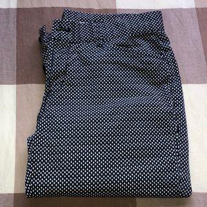 Women's Gap Khakis Checkered Blue